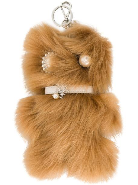 Miu Miu bag charm fur faux fur women bag brown