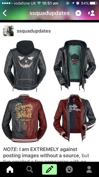 jacket joker harley quinn suicidesquad leather jacket comics jared leto