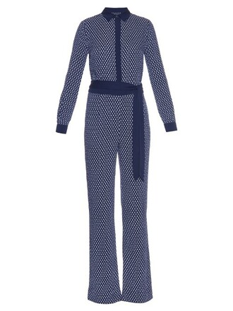 jumpsuit navy white