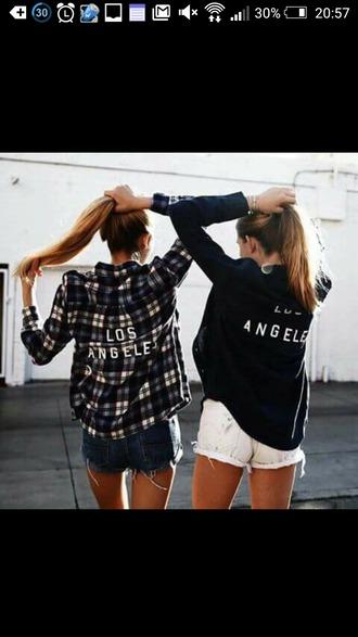 shirt print checked shirt los angeles