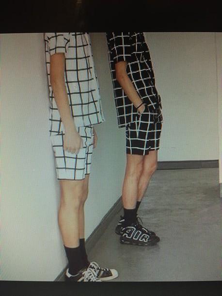Menswear Set Grid Guys Hipster Tumblr Street T