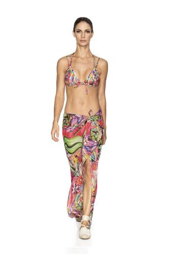 scarf agua bendita cover up designer multiway scarf multicolor bikiniluxe