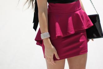 skirt crimson style girl young
