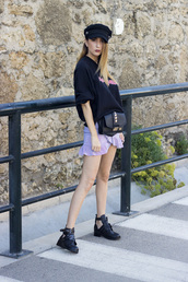 shoes and basics,blogger,sweater,skirt,bag,shoes,sunglasses,fall outfits,boots,mini skirt,iron maiden