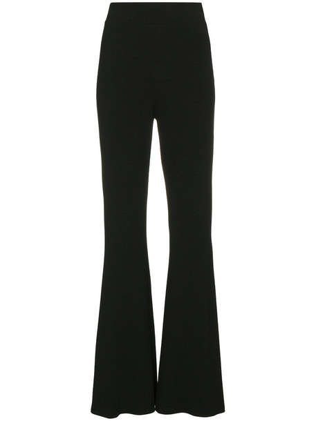 high waisted high women spandex black pants