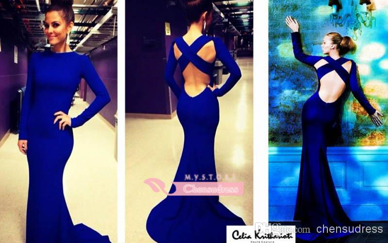 Cheap Mermaid Prom Dresses - Discount Backless Royal Blue Evening Party Dresses Sexy Mermaid Online with $101.47/Piece | DHgate