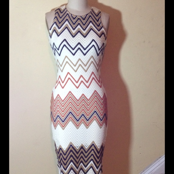 Chevron knit midi dress from jhanae's closet on poshmark