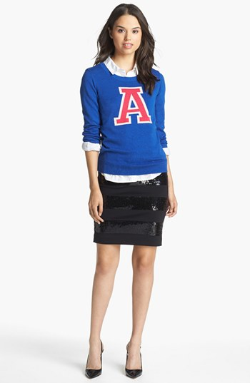 Halogen® 'Letterman' Sweater (Regular & Petite) | Nordstrom