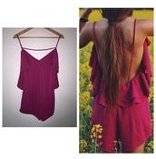 jumpsuit,burgundy,summer dress,burgundy dress,india love,backless dress