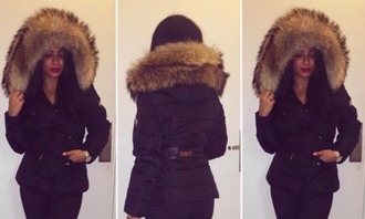 fall jacket black jacket down jacket faux fur dior chanel