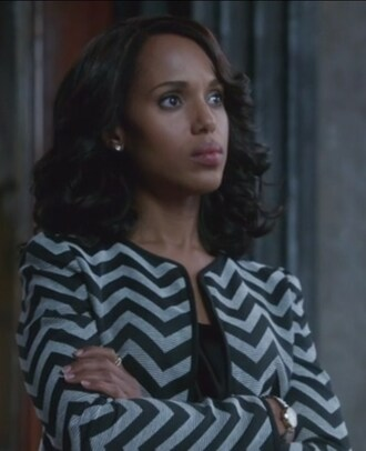 jacket chevron zip olivia pope scandal kerry washington