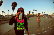 sweater,neon,hoodie,venice beach