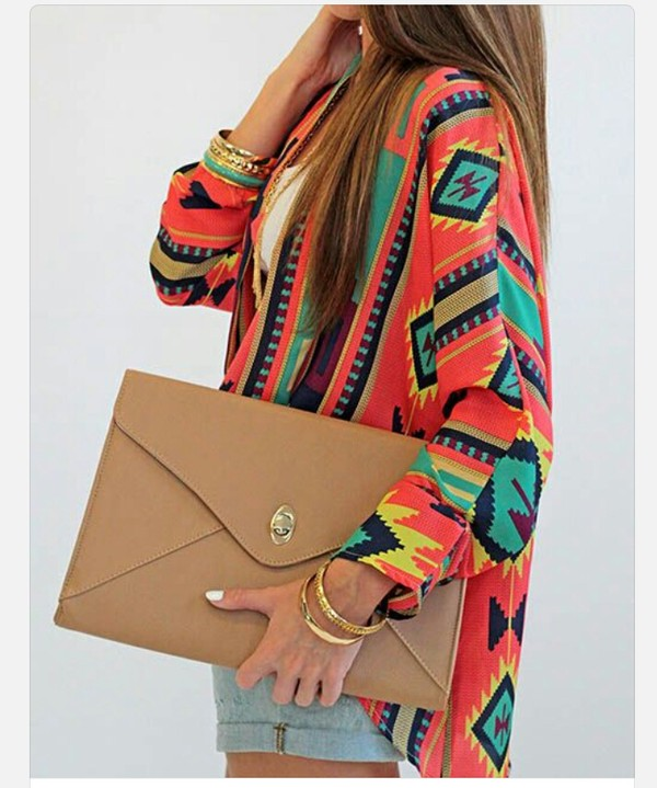 shirt tribal pattern aztec clothes tribal pattern long sleeves aztec girl bag jacket sweater aztec sweater coat clutch tribal cardigan cardigan kimono tribal print cardigan tribal pattern