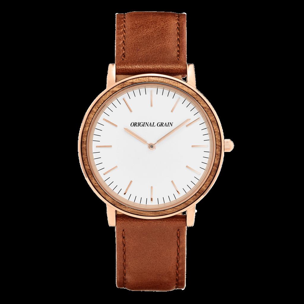 Zebrawood / Rosegold Minimalist - Original Grain Watches