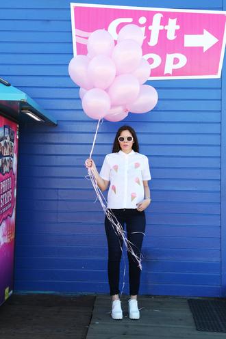 irene closet blogger white shirt ice cream white shoes