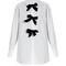 Decorative-bow cotton-poplin shirt
