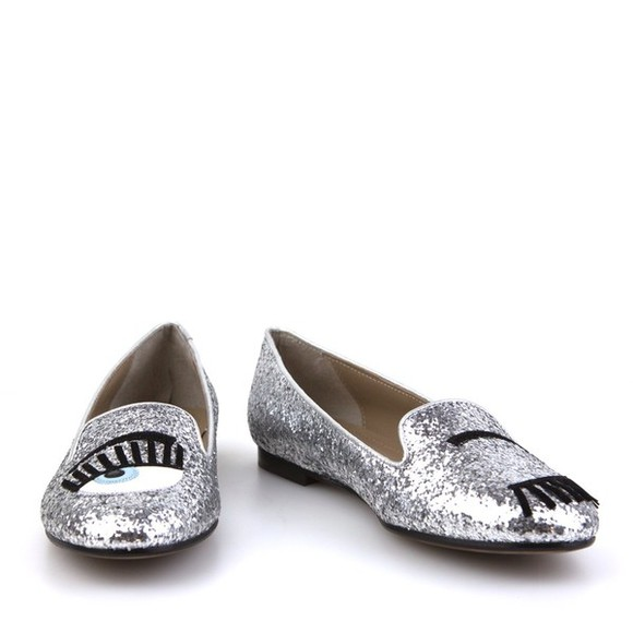 sparkly shoes glitter shoes silver glitter ballet flats eyelashes girly