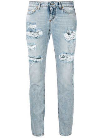 jeans cropped jeans cropped women spandex ripped cotton blue