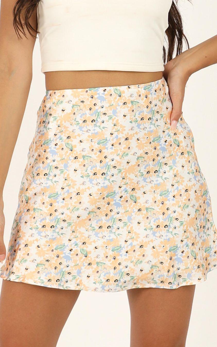 Showpo Parisian Life skirt in multi floral - 12 (L) Mini Skirts