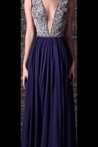 dress prom dress navy deep v neck floor length prom dress deep v neck dress