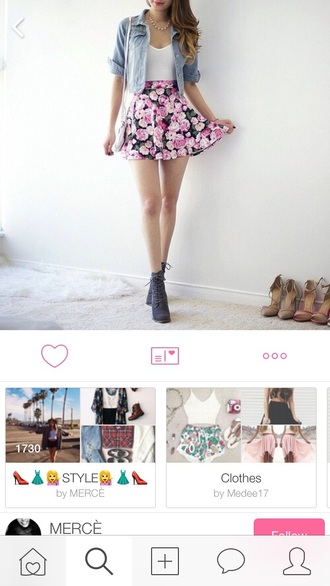 skirt rose pink floaty spring summer cute floral
