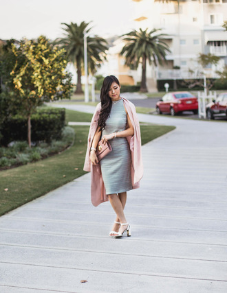 metallic paws blogger coat dress shoes