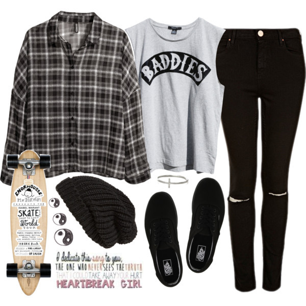 baddies jeans skateboard luke hemmings blouse jacket shirt hat pants ripped black skinny jeans luke hemmings black and white plaid style flannel ripped jeans shoes vans beanie black beanie black hat