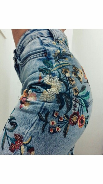 jeans embroidered embroidered jeans