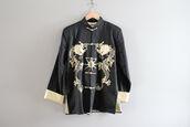 jacket,cheongsam,tai chi,kung fu jacket,oriental jacket,asian jacket,dragon cheongsam,black cheongsam,embroidered dragon,vintage cheongsam,buddha shirt,traditional chinese jacket,tai chi shirt