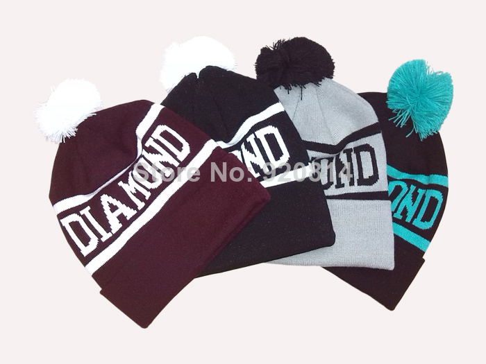 Diamond supply co diamonds knitted hat knitted elastic hiphop cap cold cap beanies winter hat-inSkullies & Beanies from Apparel & Accessories on Aliexpress.com