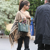 bag,selena gomez,selena,gomez,marc by marc jacobs,marc jacobs,army green purse,handbag,bags and purses,sweater,dolce and gabbana
