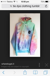sweater,tie dye,jacket,sweatshirt