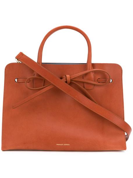 mini sun women leather brown bag