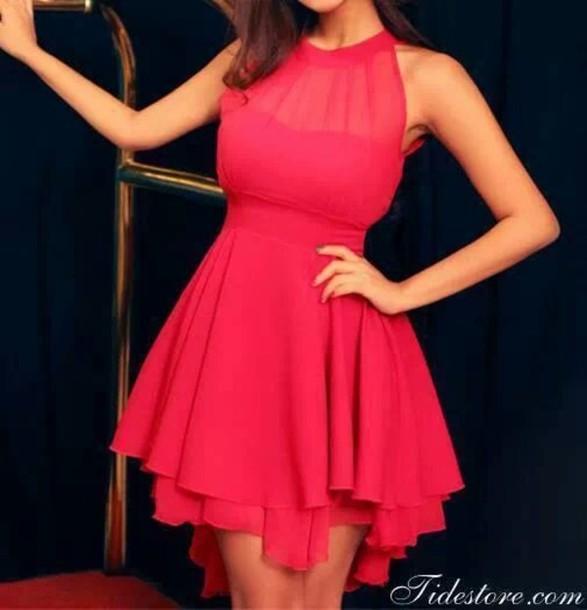 dress haltaneck dress silk look