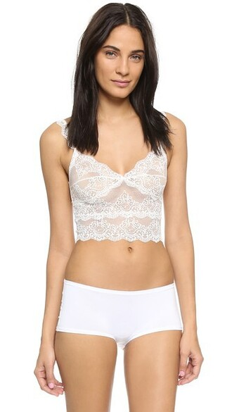 camisole cropped lace creme underwear