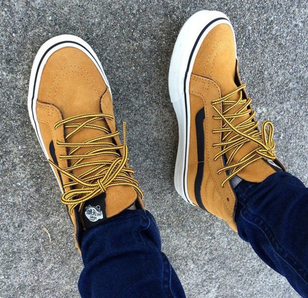 3122951a3faf6b Vans Sk8-Hi Suede - Honey Mustard Black
