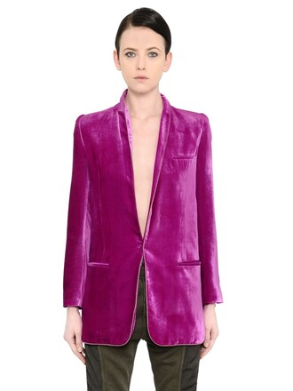 blazer long velvet jacket