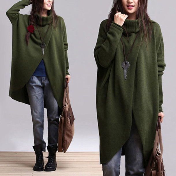 sweater green colored woman coat