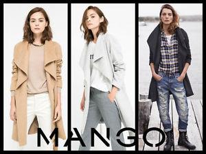 MANGO Wide Lapels lined wool blend long coat (REF.7522/242 type)
