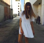 dress,clothes,white dress,white,brandy melville