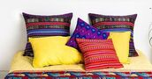 home accessory,eyes of india,pillow,cushion cover,boho,boho chic,bohemian decor,colorful pillow,wooven