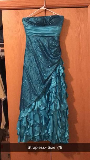 dress blue blue dress prom dress prom ruffle dress ruffle