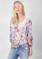 blouse,floral blouse,floral,lace up blouse,lace up top,peasant top,festival,festival top,summer,summer top,retro,70s inspired top,boho top,bohemian,floral top