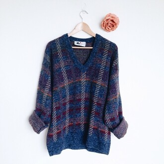 sweater colorful grunge dark orange pink blue grey red soft grunge 90s style 90's sweater shirt top flowers rose