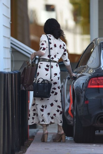 dress spring dress spring outfits belt bag mules vanessa hudgens