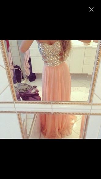 dress prom dress long dress jewels