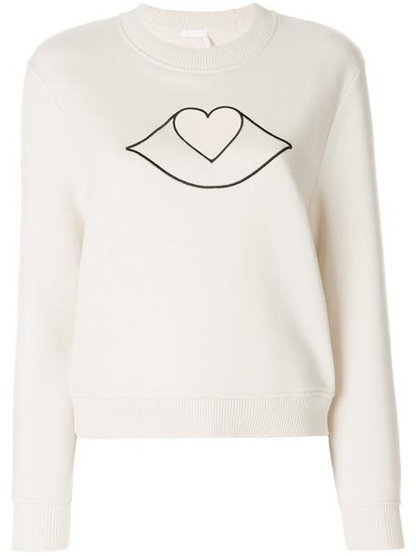 See by Chloe sweatshirt women nude cotton sweater