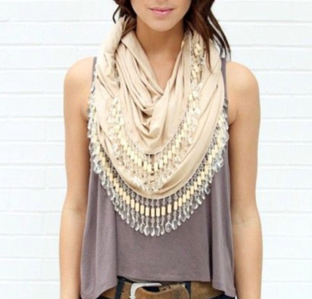 scarf bejeweled scarf jewels scarf with jewels beaded scarf