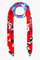 Kenzo red and blue tiger print scarf