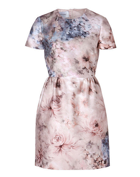 dress floral print dress valentino cotton-silk dress